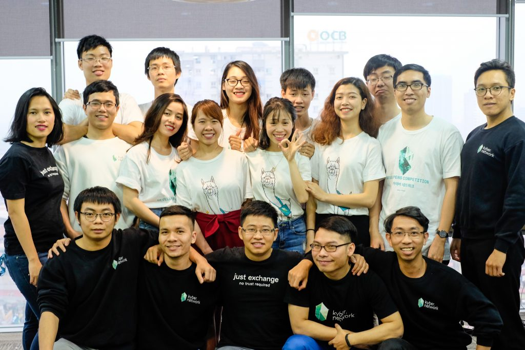 Kyber Network Team in Hanoi Office